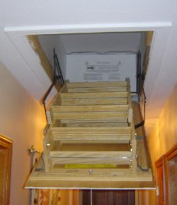 Attic Stair Cover Conserves Energy